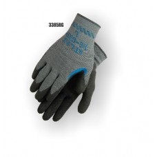 Atlas re-grip, reinforced thumb crotch, black latex over blue latex on gray seamless knit liner.