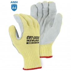 Majestic 3120 Cut-Less With Kevlar Cut Resistant Gloves with Leather Palm