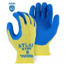 Atlas KV300 Kevlar Cut Resistant Knit Gloves with Latex Palm Coating