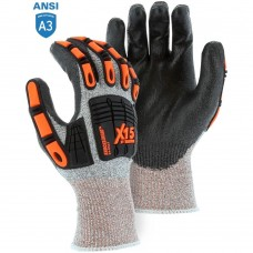 Majestic 34-5337 X15 with Dyneema Cut & Impact Resistant Glove with Polyurethane Coating