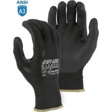 Majestic 37-3565 Black Cut-less Dyneema Diamond Glove with Foam Nitrile Palm Coating