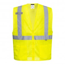 Economy Mesh Zip Vest