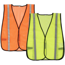 Compact Mesh Safety Vest Black Piping