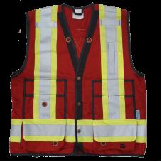 Viking Open Road Class 1 Red Surveyor Vest