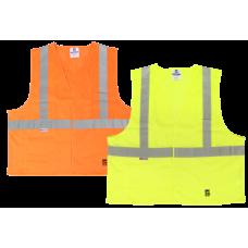 Viking Open Road Class 2 Mesh Safety Vest Hook & Loop Enclosure