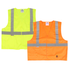 Viking Open Road Class 2 Solid Safety Vest Hook & Loop Enclosure