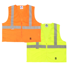 Viking Open Road Class 2 Mesh Safety Vest With Zipper Enclosure