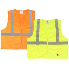 Viking Open Road Class 2 Solid Safety Vest With Zipper Closure