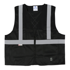 Viking Open Road Class 1 Solid Safety Vest With Zipper Closure